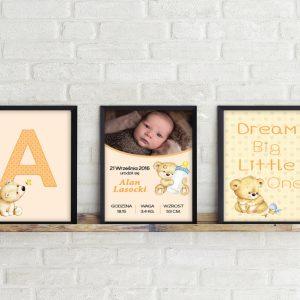 Komplet 3 obrazków dla dziecka