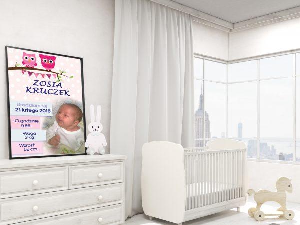 Metryczka ze zdjęciem dziecka